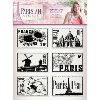 Crafter's Companion FRENCH Clear Stamps Parisian s-par-st-frst