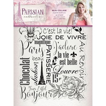 Crafter's Companion BEAU COLLAGE Clear Stamps Parisian s-par-st-bcol