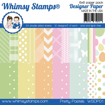 Whimsy Stamps PRETTY PASTELS 6 x 6 Paper Pads WSDP01