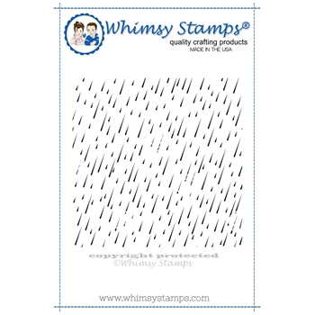 Whimsy Stamps RAIN DROP BACKGROUND Rubber Cling Stamp DDB0021