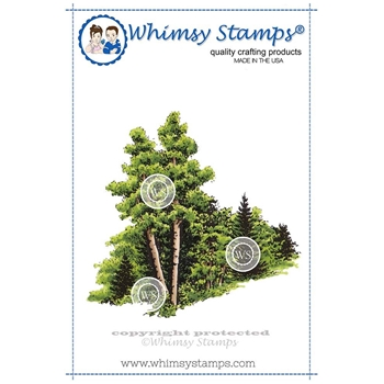 Whimsy Stamps ASPEN GROVE Cling Stamp DA1109