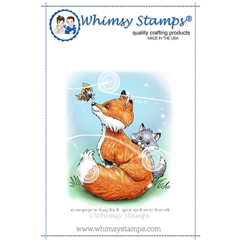Whimsy Stamps FOX MOM Cling Stamp C1333