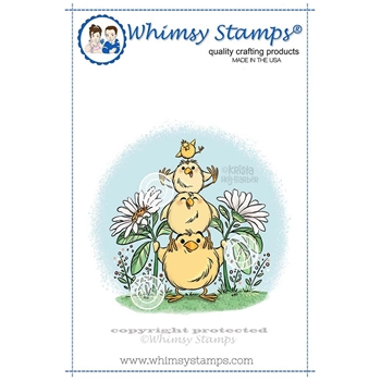 Whimsy Stamps CHICK TOTEM Cling Stamp KHB144