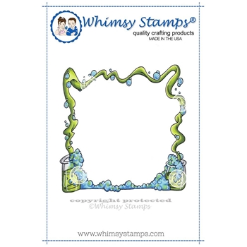 Whimsy Stamps WIZARD FRAME Cling Stamp DP1007