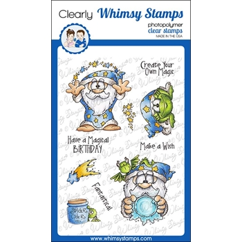 Whimsy Stamps CREATE MAGIC Clear Stamps DP1009