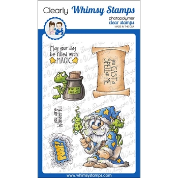 Whimsy Stamps CAST A SPELL Clear Stamps DP1008
