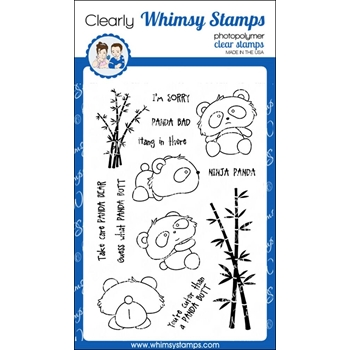 Whimsy Stamps PANDA BUTT Clear Stamps CWSD238
