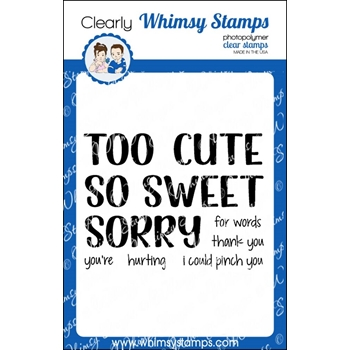 Whimsy Stamps SO AND TOO Clear Stamps CWSD246