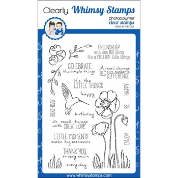 Whimsy Stamps ENJOY THE LITTLE THINGS Clear Stamps