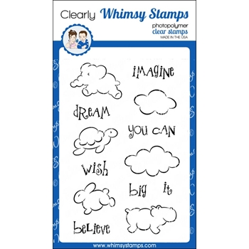Whimsy Stamps CLOUD ANIMALS Clear Stamps CWSD241