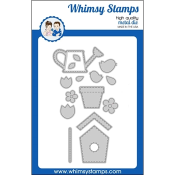 Whimsy Stamps BUILD A GARDEN Dies WSD372
