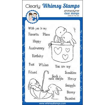 Whimsy Stamps BUNNY BUDDIES Clear Stamps CWSD240