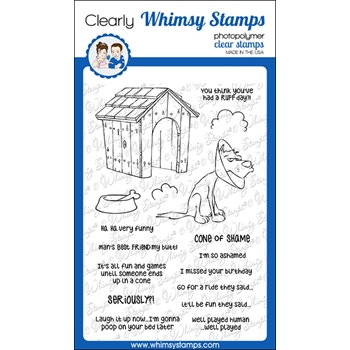Whimsy Stamps CONE OF SHAME Clear Stamps CWSD216