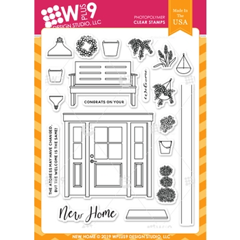 Wplus9 NEW HOME Clear Stamps cl-wp9nh