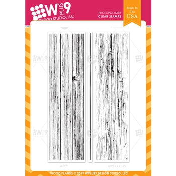 Wplus9 WOOD PLANKS Clear Stamps cl-wp9wopl
