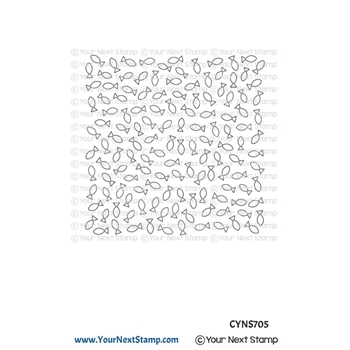 Your Next Stamp FISHY BACKGROUND Clear cyns705