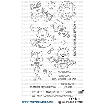 Your Next Stamp JUST KEEP FLOATING Clear cyns711