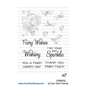 Your Next Stamp WISHING WELL FAIRY Clear cyns712