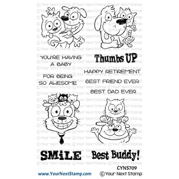 Your Next Stamp PHOTO BOOTH THUMBS UP Clear cyns709