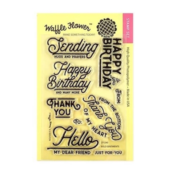 Waffle Flower BOLD SENTIMENTS Clear Stamps 271240