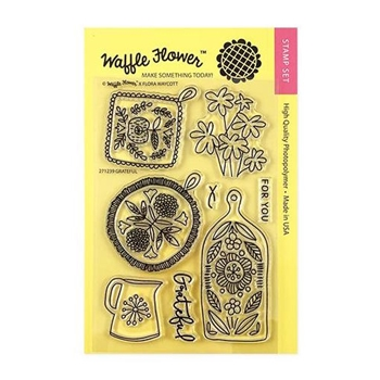 Waffle Flower GRATEFUL Clear Stamps 271239