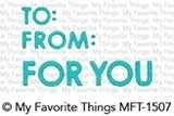 My Favorite Things GIFTY GREETINGS Die-Namics MFT1507