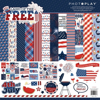 PhotoPlay LAND OF THE FREE 12 x 12 Collection Pack lof9436
