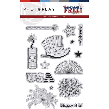 PhotoPlay LAND OF THE FREE Clear Stamps lof9438