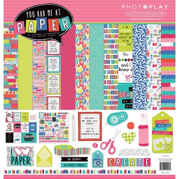 PhotoPlay YOU HAD ME AT PAPER 12 x 12 Collection Pack yhm9447