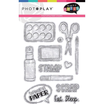 PhotoPlay YOU HAD ME AT PAPER Clear Stamps yhm9449