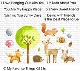My Favorite Things SWEET SPRING FRIENDS Clear Stamps CS386