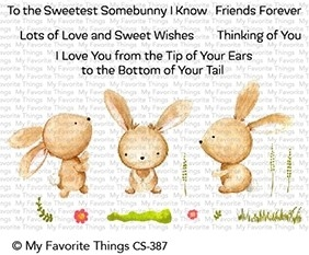 My Favorite Things SWEETEST SOMEBUNNY Clear Stamps CS387