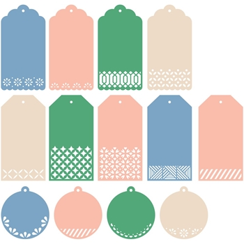 Pinkfresh Studio CLASSIC TAGS WITH FILLABLE ELEMENTS Essentials Die Set pf007es