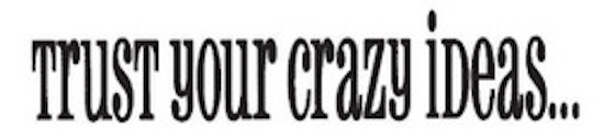 Tim Holtz Rubber Stamp CRAZY IDEAS Trust Your Stampers Anonymous G3-1074 zoom image
