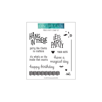 Concord & 9th PINATA PARTY Clear Stamp Set 10581