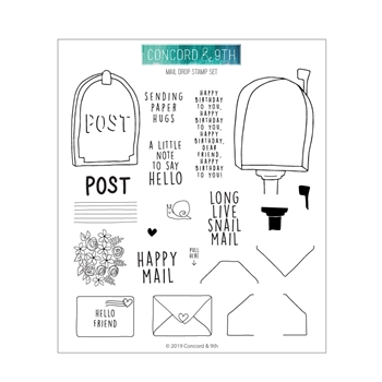 Concord & 9th MAIL DROP Clear Stamp Set 10595