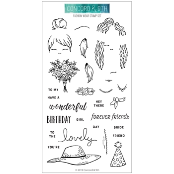 Concord & 9th FASHION WEAR Clear Stamp Set 10586