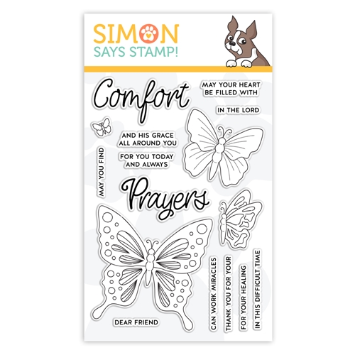 Simon Says Clear Stamps COMFORT AND PRAYERS sss101979 Blossoms and Butterflies  Preview Image