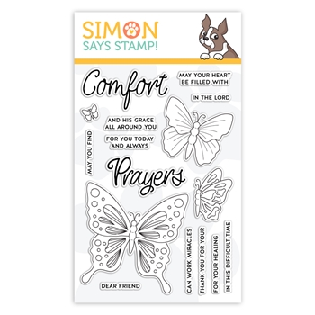 Simon Says Clear Stamps COMFORT AND PRAYERS sss101979 Blossoms and Butterflies