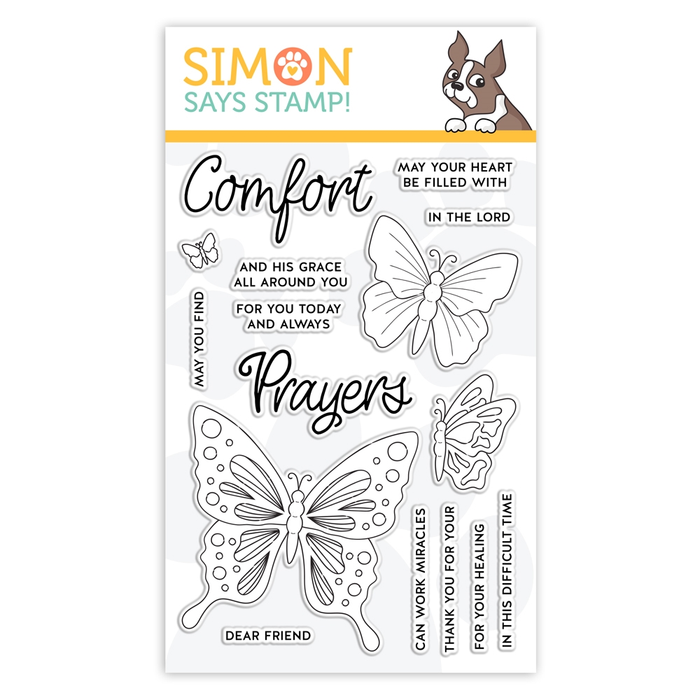 Simon Says Clear Stamps COMFORT AND PRAYERS sss101979 Blossoms and Butterflies  zoom image