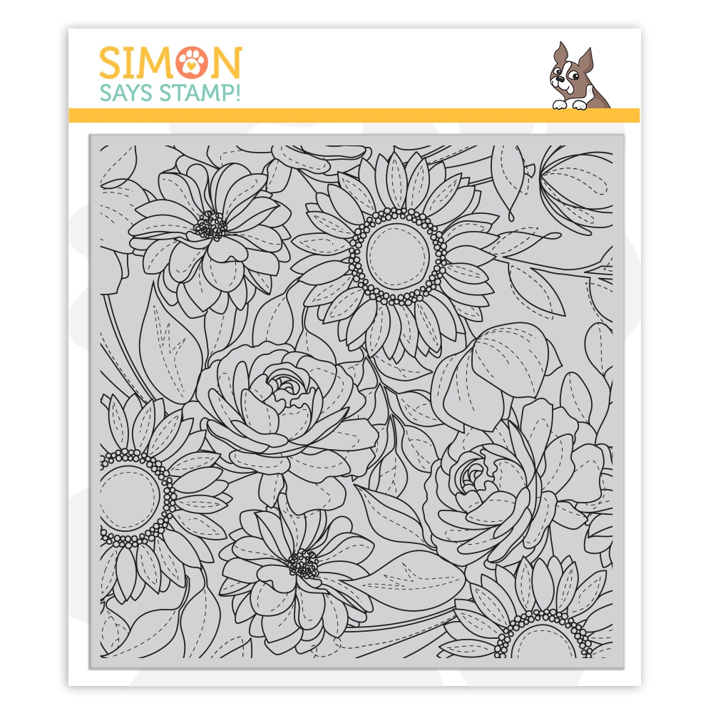 RESERVE Simon Says Cling Rubber Stamp FLORAL MIX BACKGROUND sss101974 Blossoms and Butterflies zoom image