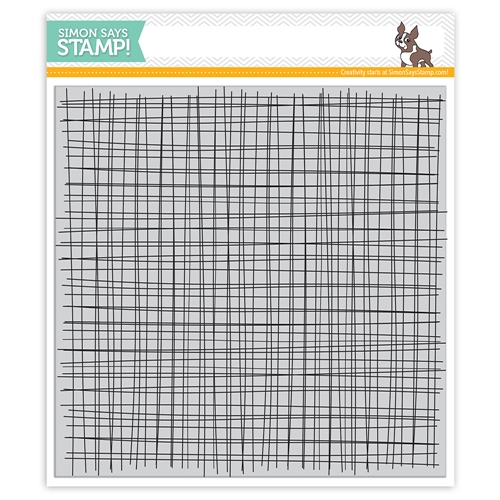 Simon Says Cling Rubber Stamp SKETCHY LINES BACKGROUND sss101971 Blossoms and Butterflies Preview Image