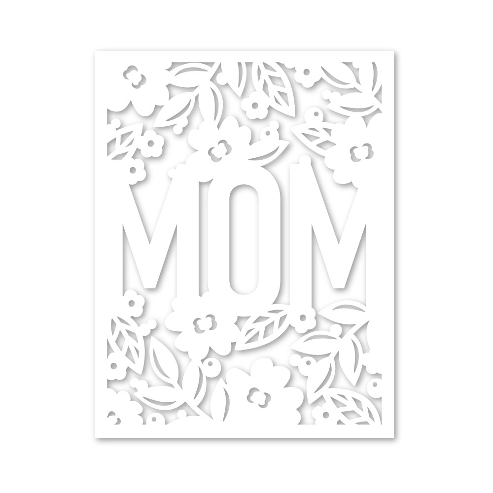 RESERVE Simon Says Stamp FLORAL MOM FRAME Wafer Die sssd111973 Blossoms and Butterflies zoom image