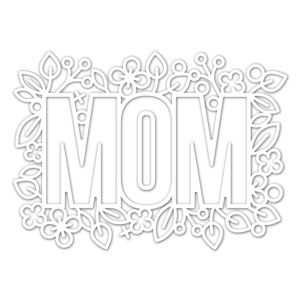 Simon Says Stamp OUTLINE FLORAL MOM Wafer Die sssd111970 Blossoms and Butterflies zoom image