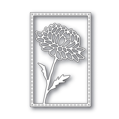 RESERVE Simon Says Stamp DAHLIA FRAME Wafer Die s643 Blossoms and Butterflies Preview Image
