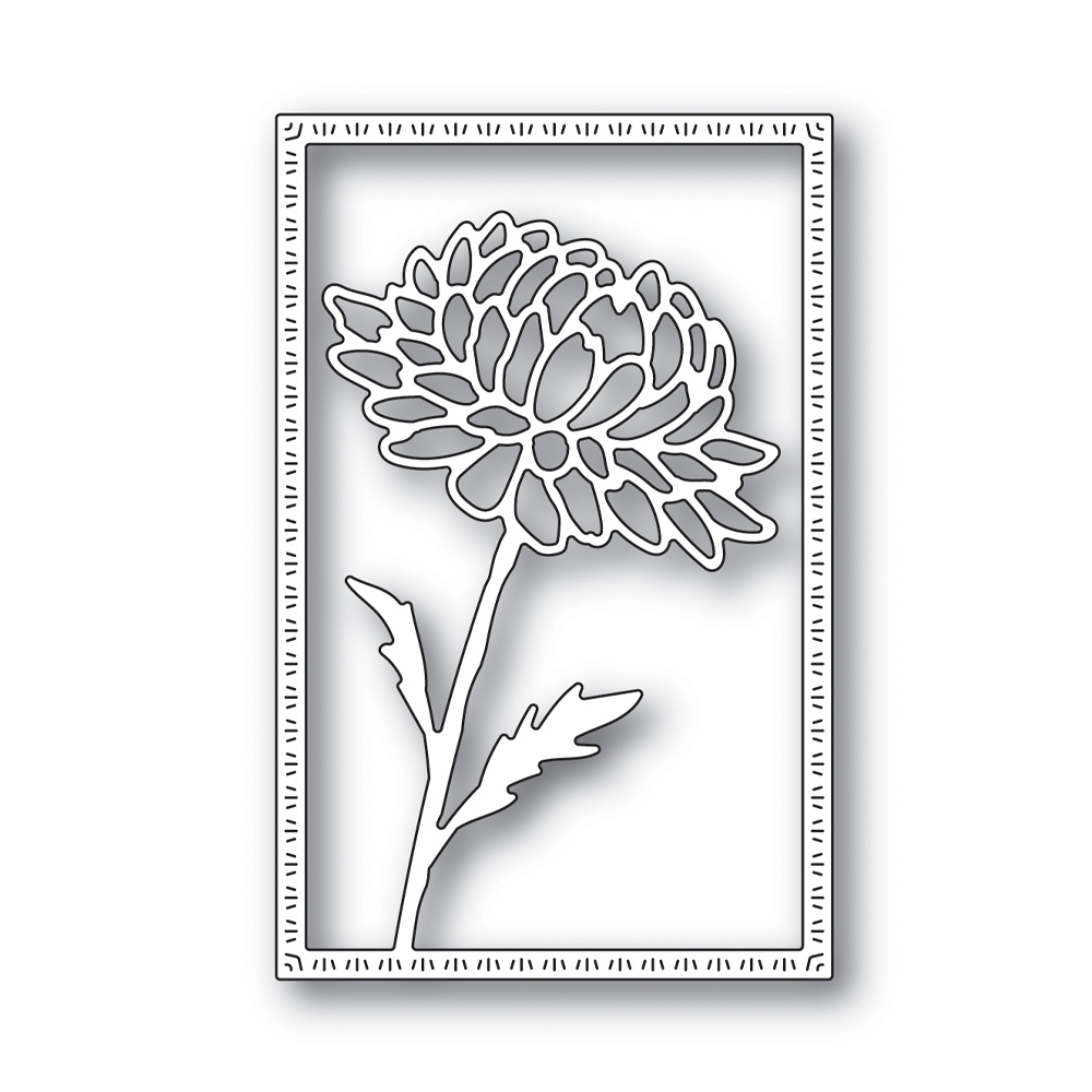 RESERVE Simon Says Stamp DAHLIA FRAME Wafer Die s643 Blossoms and Butterflies zoom image