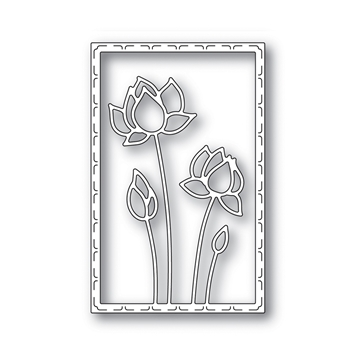 RESERVE Simon Says Stamp LOTUS FRAME Wafer Die s641 Blossoms and Butterflies