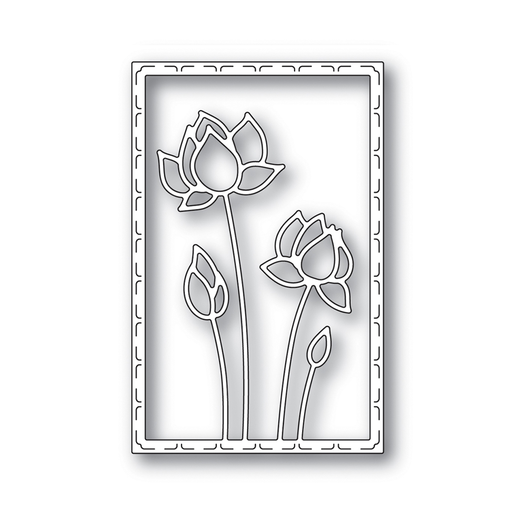 RESERVE Simon Says Stamp LOTUS FRAME Wafer Die s641 Blossoms and Butterflies zoom image