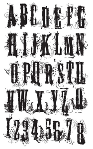 Tim Holtz Rubber Stamp ALPHA GRUNGE x3-1221 Stampers Anonymous