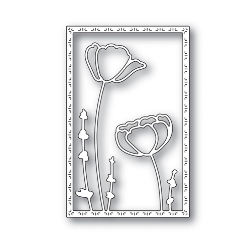 RESERVE Simon Says Stamp POPPY FRAME Wafer Die s639 Blossoms and Butterflies Preview Image